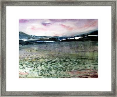Alaskan Waters Framed Print by Mindy Newman