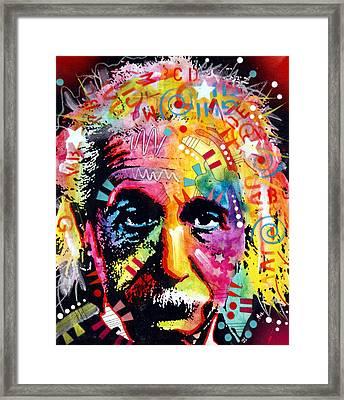 Albert Einstein 2 Framed Print by Dean Russo