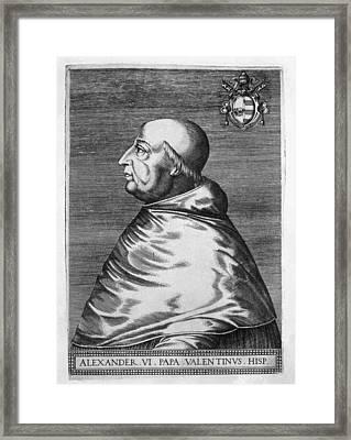 Alexander Vi 1431-1503. Pope From 1492 Framed Print by Everett