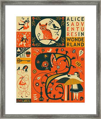 Alice In Wonderland Framed Print by Jazzberry Blue