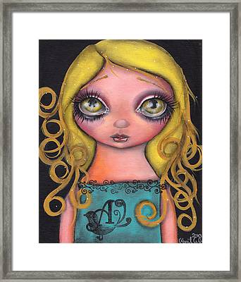 Alicia Framed Print by  Abril Andrade Griffith
