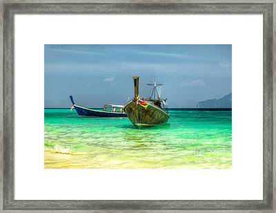 All Aboard Framed Print by Adrian Evans