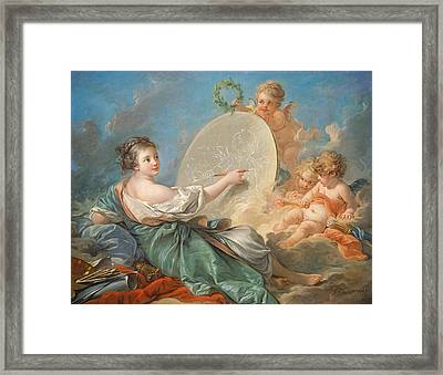 Allegory Of Painting Framed Print by Francois Boucher