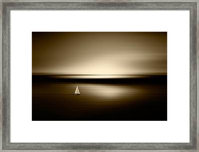 Alone Framed Print by Marek Czaja