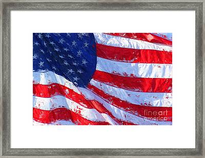 American Flag Framed Print by Shazam Images