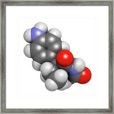 Aminoglutethimide Anti-steroid Molecule Framed Print by Molekuul