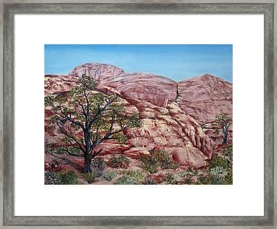 Among The Red Rocks Framed Print by Roseann Gilmore