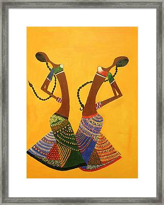 An Indian Dance Form Framed Print by Shruti Prasad