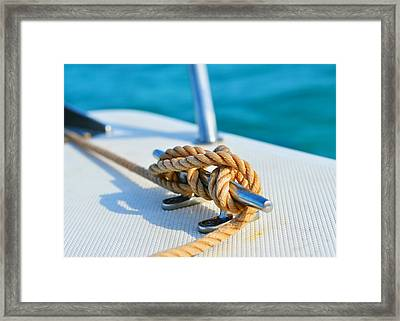 Anchor Line Framed Print by Laura Fasulo