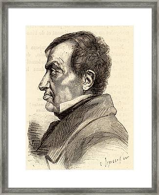 Andre-marie Ampere Framed Print by Universal History Archive/uig