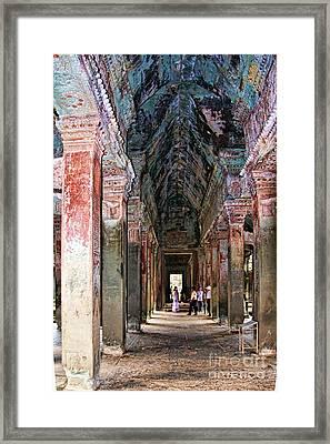 Angkor Wat Hallway Framed Print by Joerg Lingnau