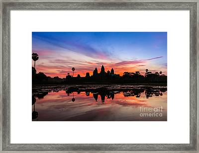 Angkor Wat Sunrise Framed Print by Fototrav Print