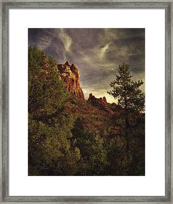 Another View Of Snoopy Rock Framed Print by Robert Albrecht