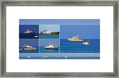 Antibes - Superyachts Of Billionaires Framed Print by Christine Till