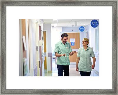 Apprentice Clinical Support Workers Framed Print by Lth Nhs Trust