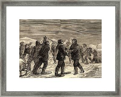 Arctic Expedition Led By John Franklin Framed Print by Universal History Archive/uig