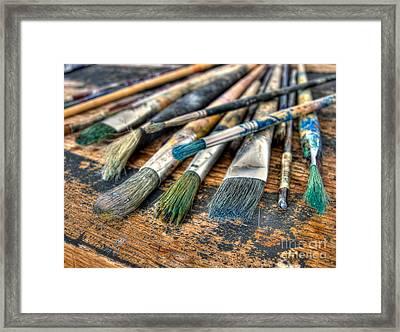 Artistic Brushes Framed Print by Sinisa Botas