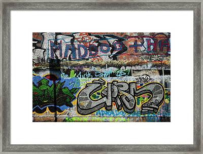 Artistic Graffiti On The U2 Wall Framed Print by Panoramic Images