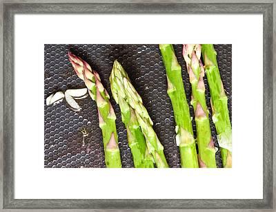 Asparagus Framed Print by Tom Gowanlock