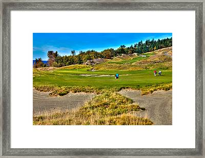 #2 At Chambers Bay Golf Course Framed Print by David Patterson
