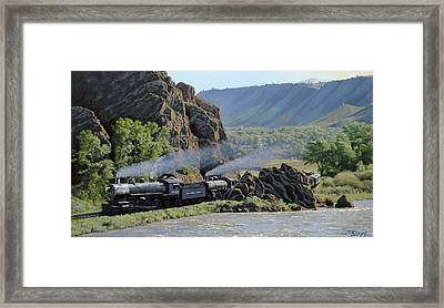 At Point Of Rocks-bound For Yellowstone Framed Print by Paul Krapf