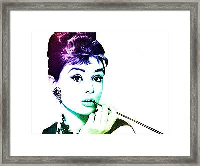 Audrey Hepburn Framed Print by Marianna Mills
