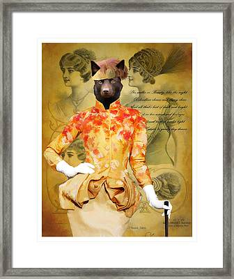 Australian Kelpie Art Canvas Print Framed Print by Sandra Sij