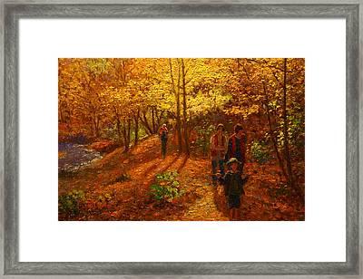 Autumn Bush Creek Track  Framed Print by Terry Perham