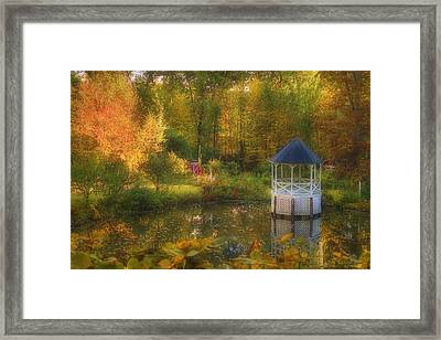 Autumn Gazebo Framed Print by Joann Vitali