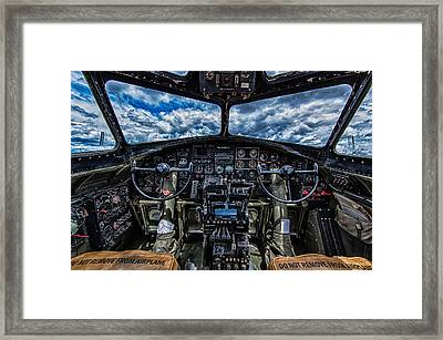B-17 Cockpit Framed Print by Mike Burgquist