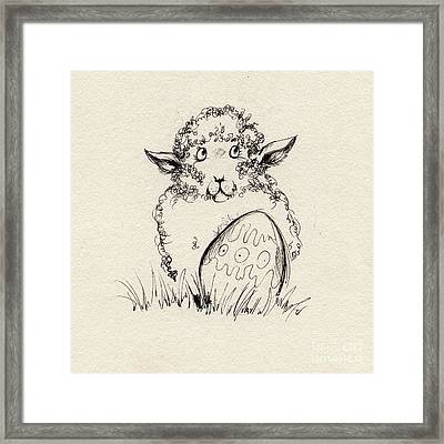 Baa Baa Framed Print by Angel  Tarantella