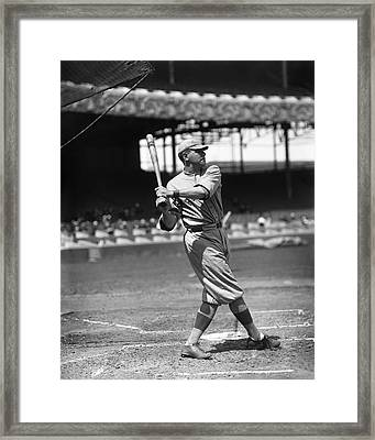Babe Ruth New York Yankees Framed Print by Retro Images Archive