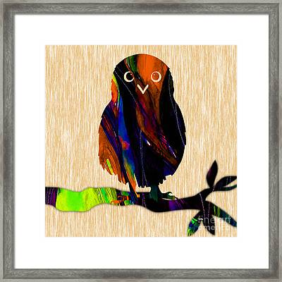 Baby Owl Framed Print by Marvin Blaine