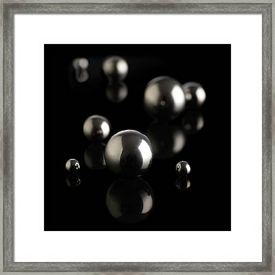 Ball Bearings Framed Print by Science Photo Library