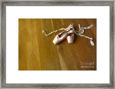 Ballet Slippers Framed Print by Diane Diederich
