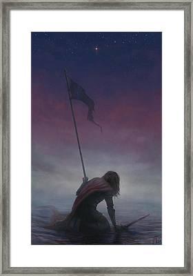 Banner Of Hope Framed Print by Katerina Romanova