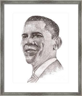 Barack Obama Framed Print by Nan Wright
