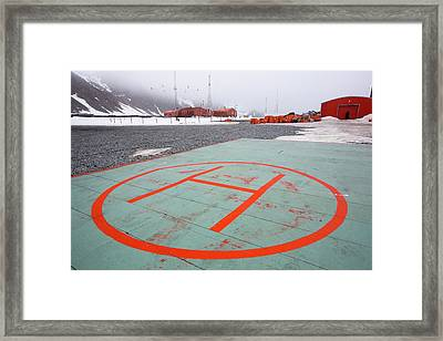 Base Orcadas Framed Print by Ashley Cooper