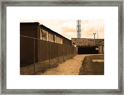 Baseball Field Bull Durham Sign Framed Print by Frank Romeo