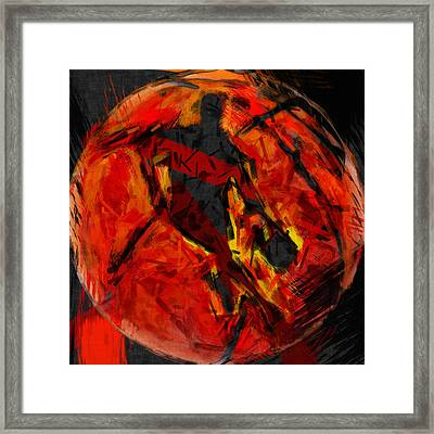 Basketball Abstract Framed Print by David G Paul