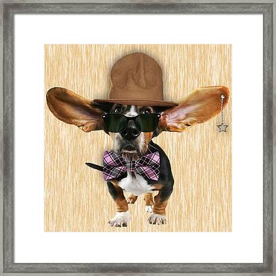 Bassett Hound Bowtie Collection Framed Print by Marvin Blaine