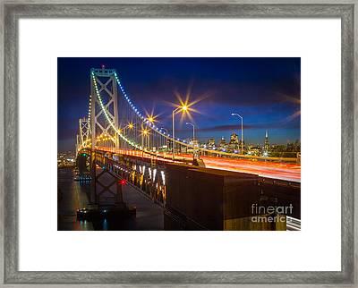 Bay Bridge Framed Print by Inge Johnsson