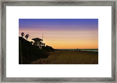 Beach Hut Framed Print by Laura Fasulo