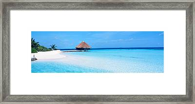 Beach Scene The Maldives Framed Print by Panoramic Images