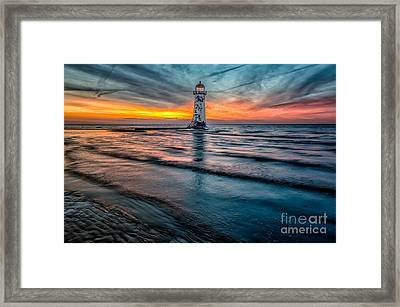 Beach Sunset Framed Print by Adrian Evans