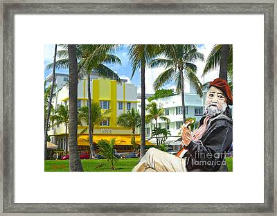 Beat Of Miami Framed Print by Judy Kay
