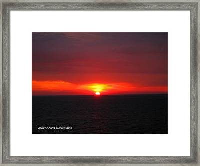 Beautiful Sunset Framed Print by Alexandros Daskalakis
