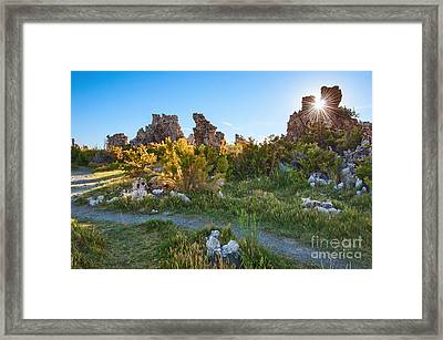 Beautiful View Of The Strange Tufa Towers Of Mono Lake. Framed Print by Jamie Pham