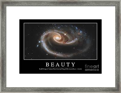 Beauty Inspirational Quote Framed Print by Stocktrek Images