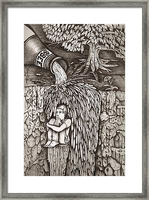 Beer Falls Framed Print by Richie Montgomery